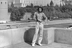 "Writer Vladimir Sorokin. From the series ""Love me, love my umbrella"". 1984"