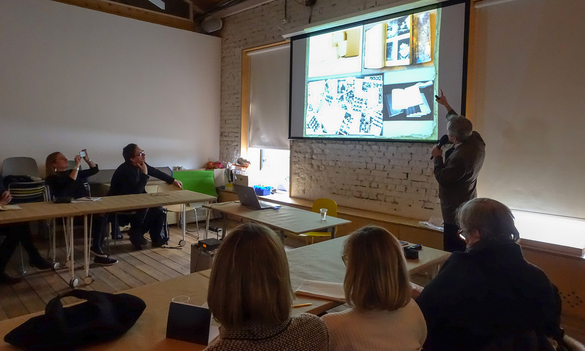 G. Kiesewalter's lecture on Moscow unofficial art for MOMA curators at Garage. 2017