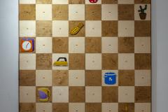 Interactive installation 'Eight Queens'. 1984-2021